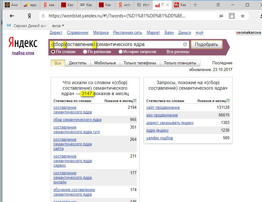 Статистика поисковых запросов яндекс wordstat